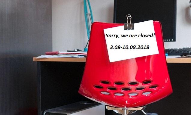 Sommerferien geschlossen